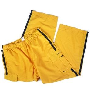 Vintage   Y2K Bright Yellow 2 in 1 Pants to Shorts